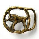 Artisan Taurus April 20 To May 20 Solid Brass Belt Buckle