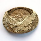 Majestic Eagle Montana Silversmiths Solid Brass Vintage Belt Buckle