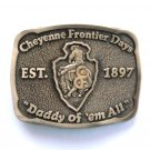 Cheyenne Frontier Days Award Design Solid brass belt buckle