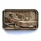 Lincoln Welding Truck Award Design Solid brass belt buckle