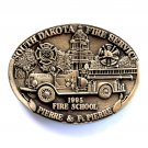 South Dakota Fire Service Award Design Brass Belt Buckle