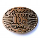 Country 105 FM Vintage Award Design Brass Belt Buckle