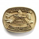 Train To Win Combat Maneuver Award Design solid brass belt buckle
