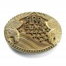 God Guts Guns Vintage Award Design solid brass used belt buckle