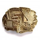 Backbone Of America Vintage Award Design Brass Belt Buckle