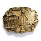 Lifeline Of America Vintage Award Design solid brass belt buckle
