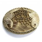 United States Of America Vintage Award Design solid brass belt buckle