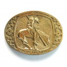 End Of The Trail Montana Silversmiths Solid Brass belt buckle