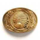 Native American Indian Head Chief Award Design Solid Brass belt buckle