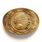 Native American Indian Head Chief Award Design Solid Brass belt buckle