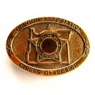 State Of Oregon Association Chiefs Of Police TBW Solid Brass belt buckle