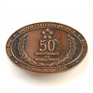 World War II 50th Anniversary Commemorative Vintage Copper belt buckle
