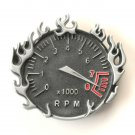 Fast & Flaming Speedometer Pewter Alloy belt buckle