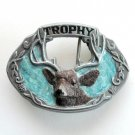Big Bull Elk Trophy 3D mens C&J Pewter belt buckle