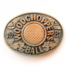 Woodchoppers Ball Tony Lama Exclusive Solid Brass Belt Buckle