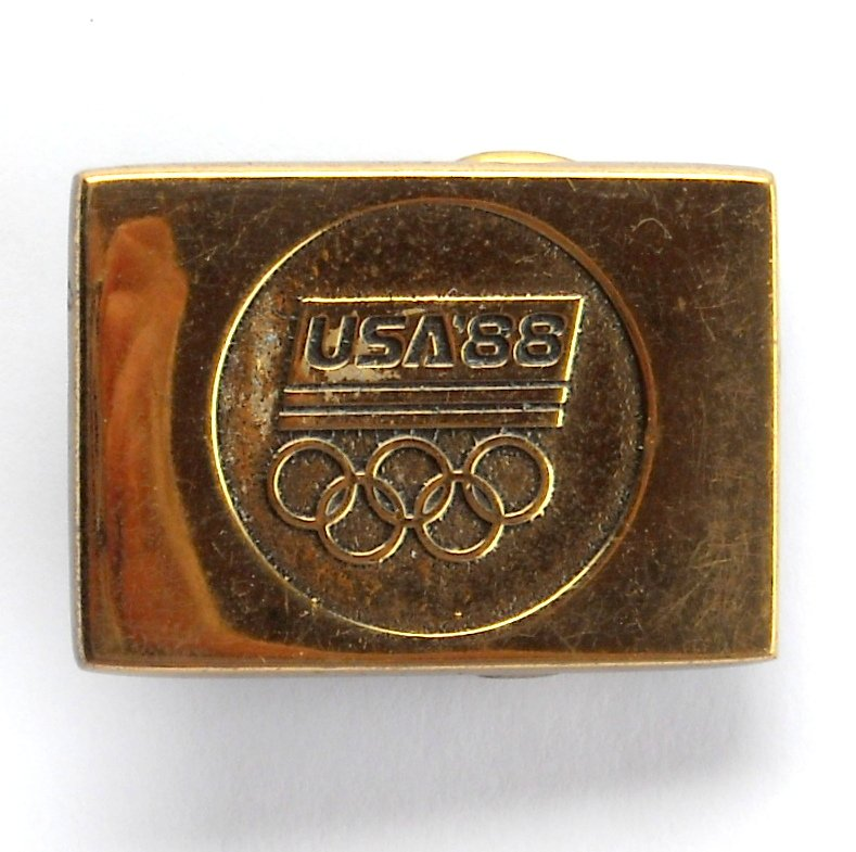 USA Olympics 1988 Solid Brass BTS Belt Buckle