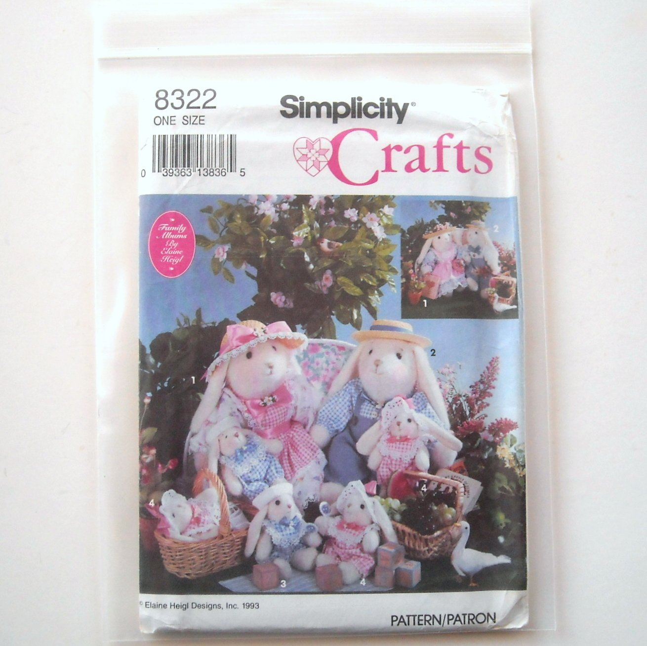 Simplicity Sewing Pattern 8322 Crafts Two Size Bunnies Clothes