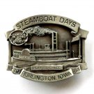 Vintage Robert E Lee 1984 Burlington Steamboat Days Pewter Belt Buckle