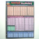 Japanese Vocabulary Quick Study Guide Academic BarCharts