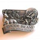 Ocean State Rhode Island Vintage Bergamot Pewter Belt Buckle