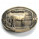 Tony Lama Appaloosa Equine Horse Breeder Solid Brass belt buckle