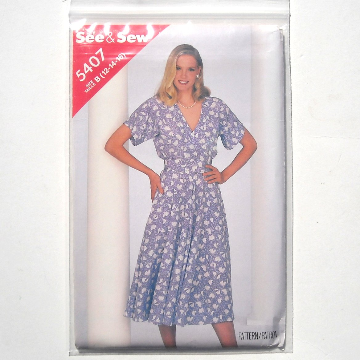 Butterick Sewing Pattern 5407 Size 12 - 16 See Sew Misses Dress