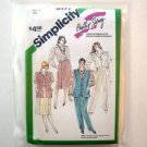 Misses Pants Skirt Shirt Lined Vest Size 12 Simplicity Sewing Pattern 6497