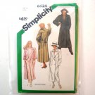 Simplicity Sewing Pattern 6524 Size 16 Misses Unlined Coat