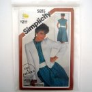 Simplicity Sewing Pattern 5835 Size 10 - 14 Misses Pullover Dress Jacket