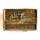 International Dozer Crawler Vintage Solid Brass belt buckle