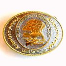 Life Member North American Hunting Club NAHC Belt Buckle
