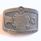 Alaska Seal Of The State Silver Anniversary 1984 belt buckle