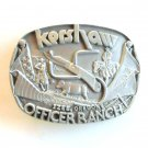 Kershaw Officer Ranch Izee Oregon Pewter belt buckle