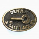 Denver and Salt Lake Railway Adezy Solid Brass belt buckle