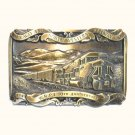 Chicago North Western Railway Limited Edition Solid Brass Belt Buckle