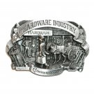 Hardware Industry Commemorative 3D JJ Solid Pewter Belt Buckle