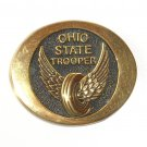 Ohio State Trooper Vintage Solid Brass belt buckle