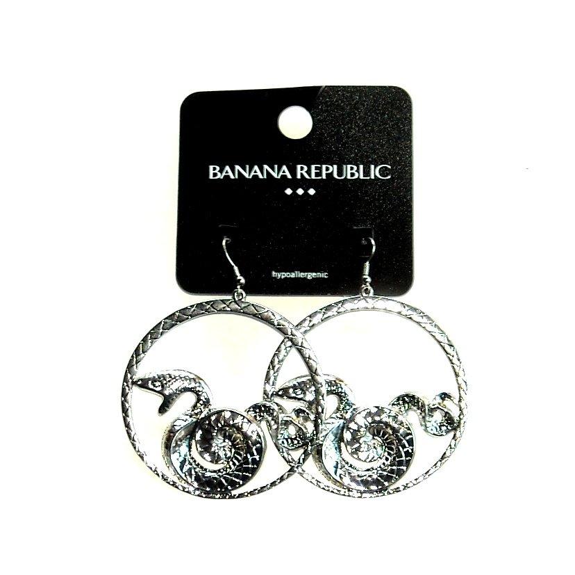 Banana Republic Dragon Large Round Earrings