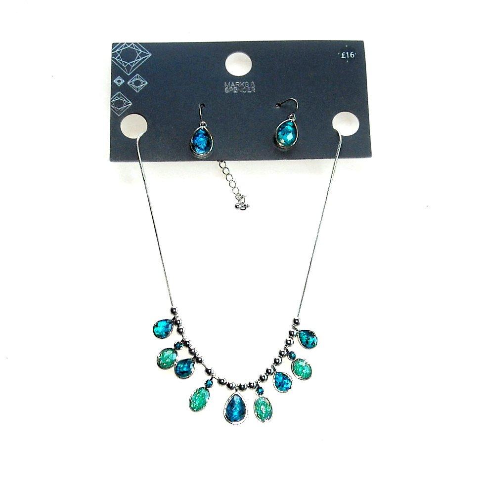 Mark & Spencer Necklace & Earring Set