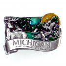 Michigan The Great Escape Bergamot Solid Pewter Belt Buckle