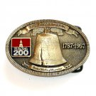 United States Solid Brass Liberty Bell TL&B Belt Buckle