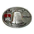 United States Liberty Bell TL&B Pewter Belt Buckle