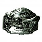 Pioneers Conquer The West Vintage 1988 Siskiyou Ames Tools Belt Buckle