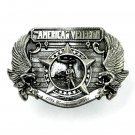 American Veteran 3D Limited Edition Siskiyou Pewter Belt Buckle 1985