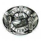 American Veteran 3D Limited Edition 1986 Siskiyou Pewter Belt Buckle
