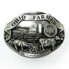 Ohio Farmer American Farm Heritage 3D Limited Edition Pewter Belt Buckle 1987