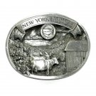 New York Farmer American Farm Heritage 3D Limited Edition Pewter belt buckle 1987