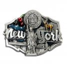 New York 3D Siskiyou Color Pewter Belt Buckle