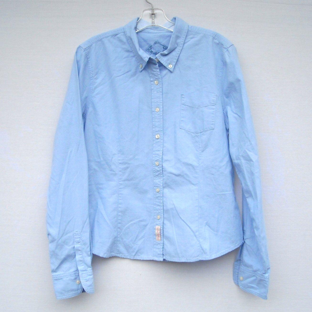 Ralph Lauren Button Up Long Sleeve Blue Shirt Blouse Top Size XL