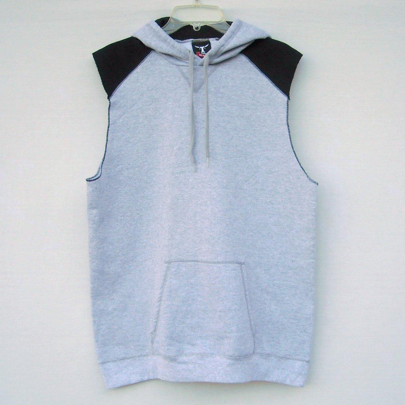 25f54cf6 Jogger Sleeveless Gray Hoodie Muscle Shirt Hanes Size S